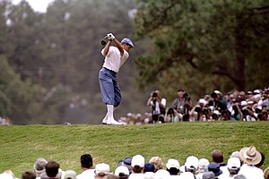 Payne Stewart during the third round of the 1999 U.S. Open Championship at Pinehurst No. 2.
