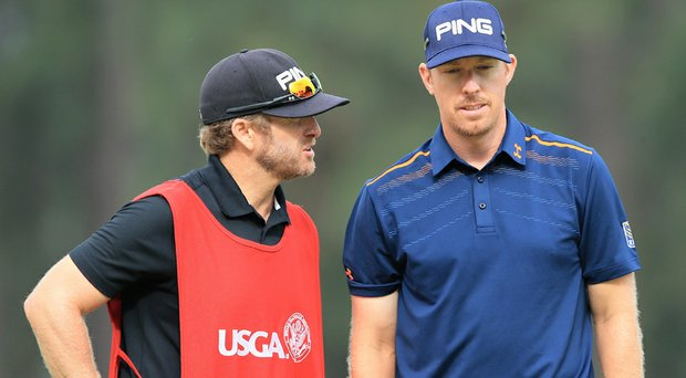 Hunter Mahan hit the wrong ball in the 18th fairway, leading to a double-bogey before making the turn.