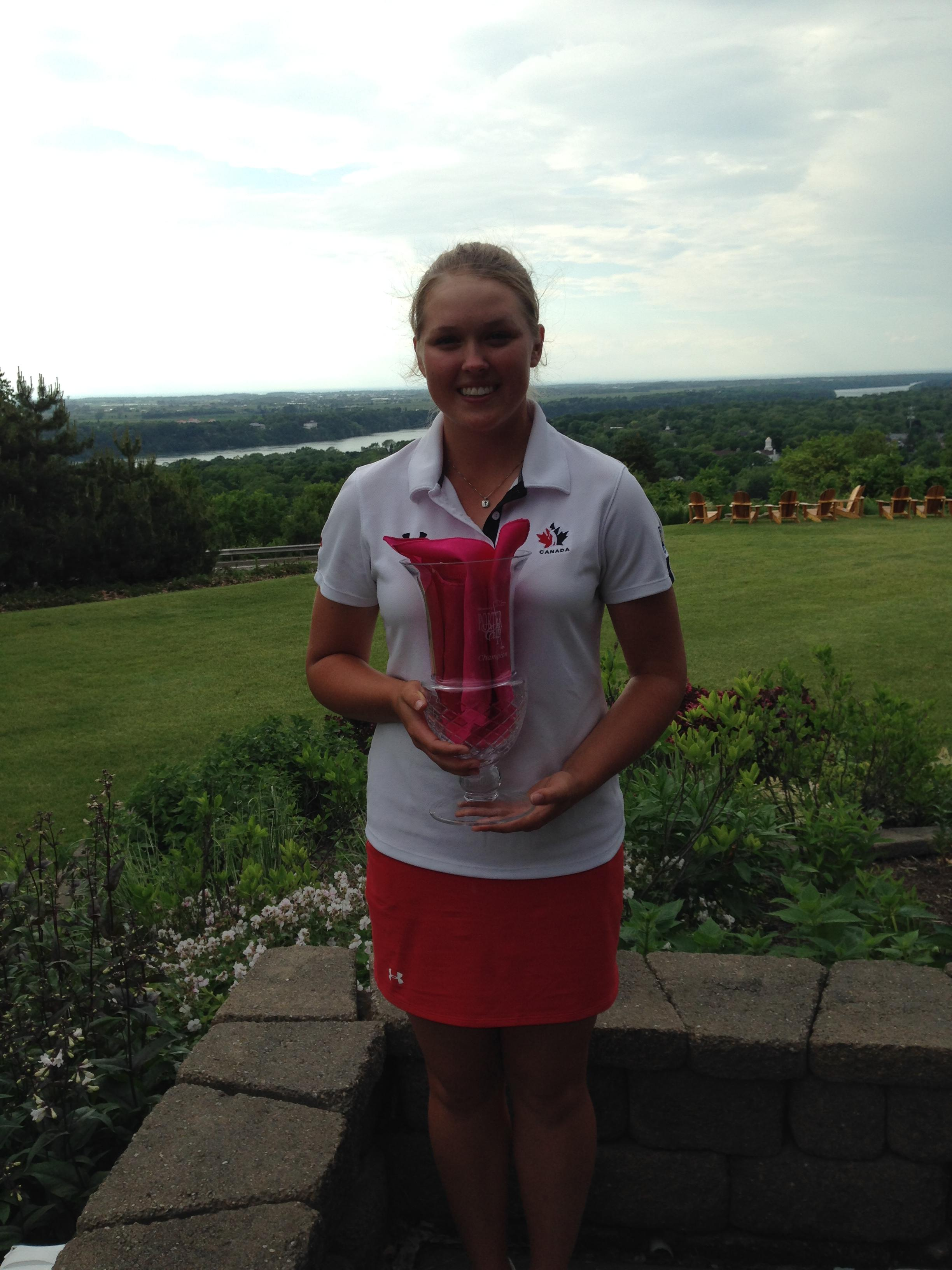Brooke Henderson after her victory at the Women's Porter Cup.
