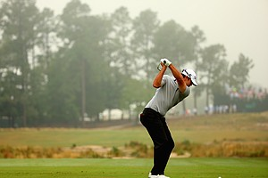 Brooks Koepka during Friday's second round of the 2014 U.S. Open at Pinehurst No. 2.