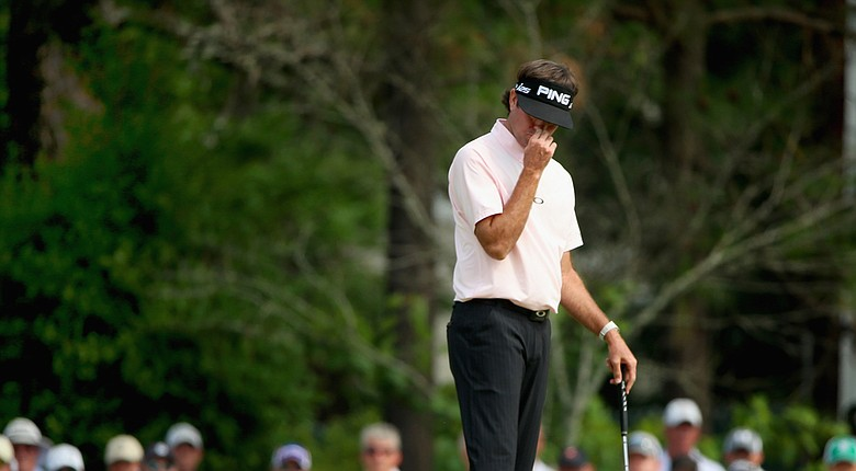 Bubba Watson reacts to a missed putt during Friday's second round of the 2014 U.S. Open at Pinehurst No. 2.