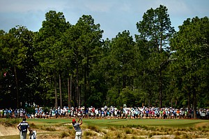 Donald Constable during Friday's second round of the 2014 U.S. Open at Pinehurst No. 2.