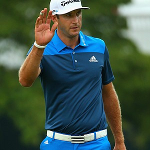 Dustin Johnson during Friday's second round of the 2014 U.S. Open at Pinehurst No. 2.