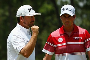 Graeme McDowell and Webb Simpson during Friday's second round of the 2014 U.S. Open at Pinehurst No. 2.