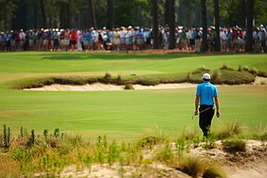Keegan Bradley during Friday's second round of the 2014 U.S. Open at Pinehurst No. 2.