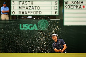 Sweden's Niclas Fasth during Friday's second round of the 2014 U.S. Open at Pinehurst No. 2.