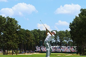 Sergio Garcia during Friday's second round of the 2014 U.S. Open at Pinehurst No. 2.