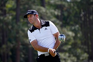 Dustin Johnson during Saturday's third round of the 2014 U.S. Open at Pinehurst No. 2.