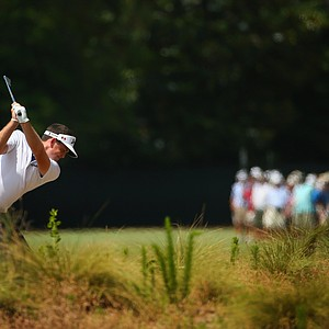 Keegan Bradley during Saturday's third round of the 2014 U.S. Open at Pinehurst No. 2.