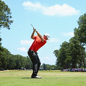 Lucas Bjerregaard during Saturday's third round of the 2014 U.S. Open at Pinehurst No. 2.