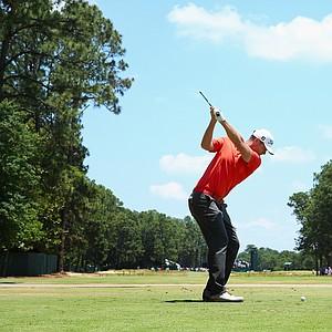 Lucas Bjerregaard during Saturday's third round of the 2014 U.S. Open at Pinehurst No. 2.