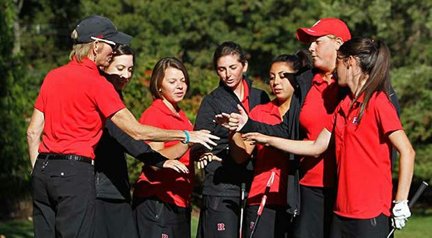 Maura Ballard (far left) stepped down as Rutgers women's golf coach after 21 years.