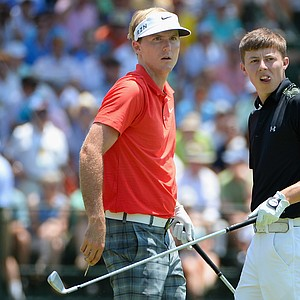 Russell Henley (left) and Matthew Fitzpatrick during Saturday's third round of the 2014 U.S. Open at Pinehurst No. 2.