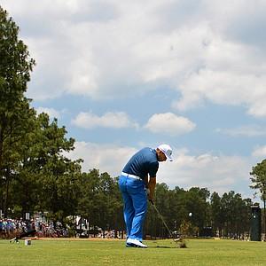 Sergio Garcia during Saturday's third round of the 2014 U.S. Open at Pinehurst No. 2.