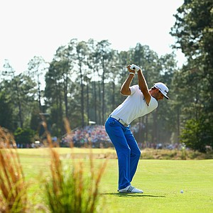 Dustin Johnson during Sunday's final round of the 2014 U.S. Open at Pinehurst No. 2.
