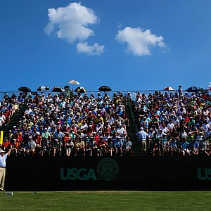 Erik Compton during Sunday's final round of the 2014 U.S. Open at Pinehurst No. 2.