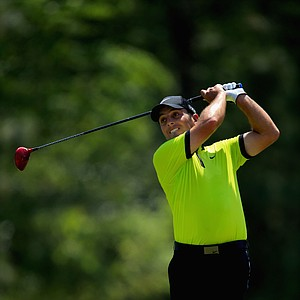 Francesco Molinari during Sunday's final round of the 2014 U.S. Open at Pinehurst No. 2.