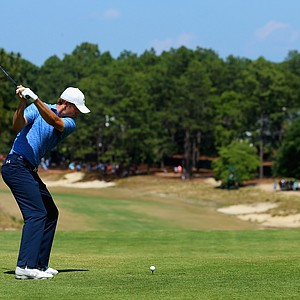 Jordan Spieth during Sunday's final round of the 2014 U.S. Open at Pinehurst No. 2.