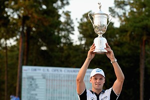 Martin Kaymer celebrating his first U.S. Open Championship victory at Pinehurst No. 2.