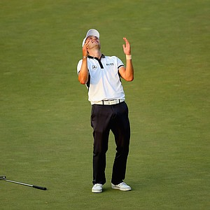 Martin Kaymer after making his final putt on Sunday at the 2014 U.S. Open.