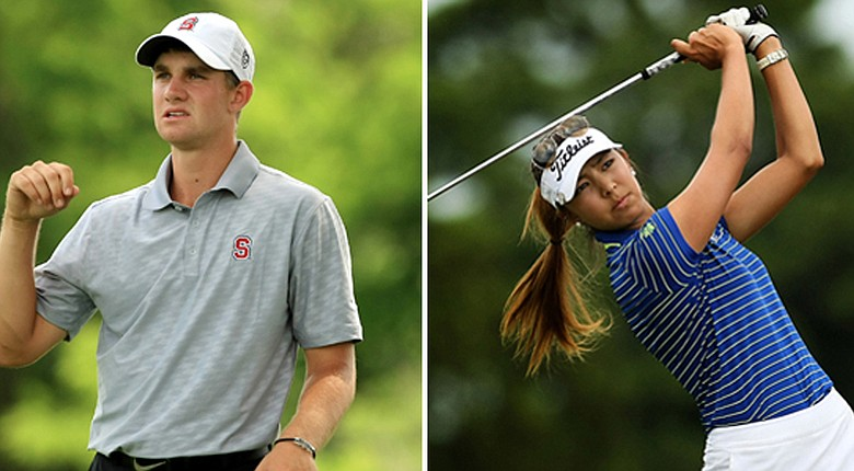 Stanford's Patrick Rodgers and UCLA's Alison Lee have been named Golfweek's Players of the Year for the 2013-14 season.