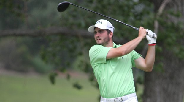 Caleb Haight fired an even-par 72 to take the first-round lead at the AJGA's Under Armour/Gary Woodland Championship in Lawrence, Kan.