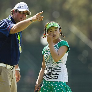Lucy Li, 11, during her Tuesday practice round at Pinehurst No. 2, site of the 2014 U.S. Women's Open, slated to start Thursday.