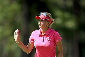 Amy Boulden during Friday's second round of the 2014 U.S. Women's Open at Pinehurst No. 2.
