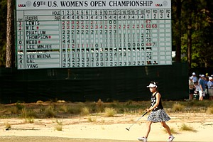 Lucy Li, 11, during the second round of the 2014 U.S. Women's Open at Pinehurst No. 2.