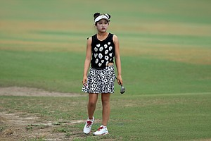 Lucy Li during Friday's second round of the 2014 U.S. Women's Open at Pinehurst No. 2.