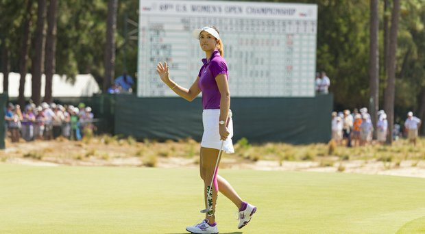 MIchelle Wie during Friday's second round of the 2014 U.S. Women's Open at Pinehurst.