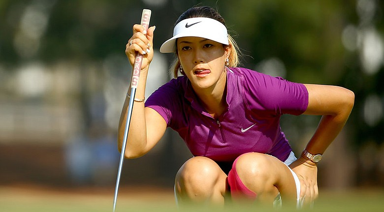 Michelle Wie during the second round of the 2014 U.S. Women's Open at Pinehurst No. 2.