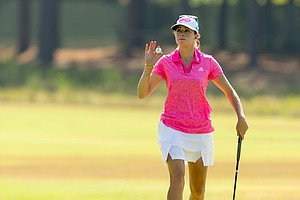 Paula Creamer during Friday's second round of the 2014 U.S. Women's Open at Pinehurst No. 2.