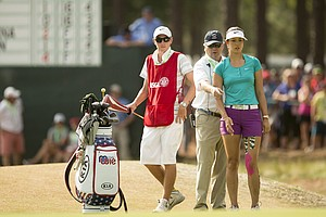 Michelle Wie during the final round of the 2014 U.S. Women's Open at Pinehurst No. 2.