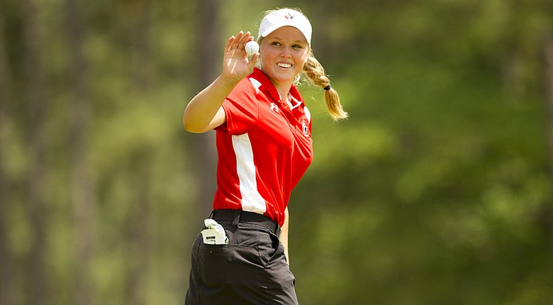 Brooke Mackenzie Henderson during Sunday's final round of the 2014 U.S. Women's Open at Pinehurst No. 2.