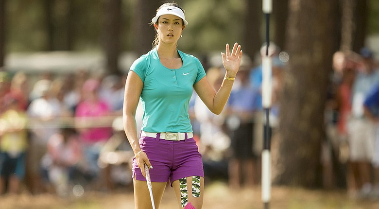 Michelle Wie during the final round of the U.S. Women's Open at Pinehurst No. 2.