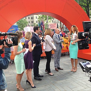 Michelle Wie on the set of the Today Show during her New York City media blitz on Tuesday.