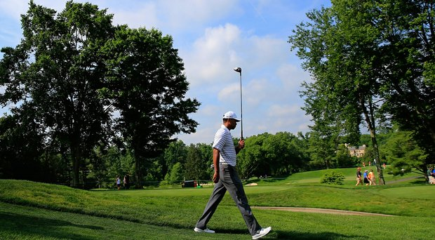 Tiger Woods on the eve of the PGA Tour's 2014 Quicken Loans National.