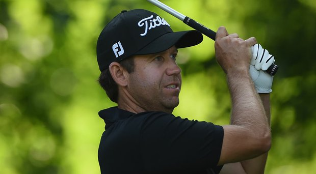 Erik Compton during the first round of the Quicken Loans National at Congressional.