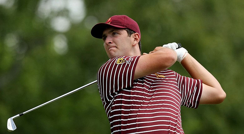 Jon Rahm, a rising junior at Arizona State, won two points for Europe at Day 1 of the 2014 Palmer Cup.