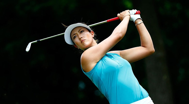 Michelle Wie during the first round of the LPGA's Walmart NW Arkansas Championship.