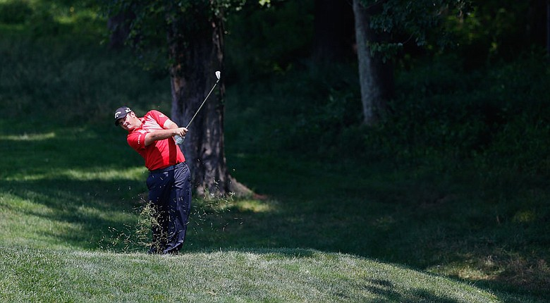 Patrick Reed during the second round of the Quicken Loans National.