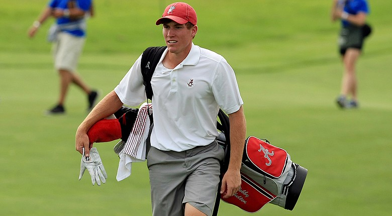 Alabama rising sophomore Robby Shelton won his singles match on Friday during Day 2 of the 2014 Palmer Cup.