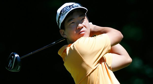 Michael Kim, shown here at the Web.com Tour's Cleveland Open, has one top-10 finish in six starts this season.