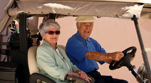 Errie Ball and wife, Maxie, photographed at the Willoughby Golf Club in Stuart, Fla. They were married for 77 years.
