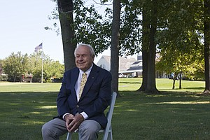 Arnold Palmer at Lancaster (Pa.) CC, host of the 2015 U.S. Women's Open.