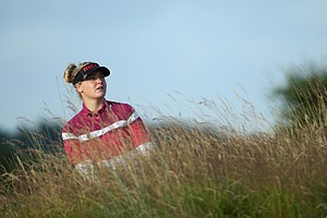 Charley Hull during Thursday's first round of the 2014 Women's British Open at Royal Birkdale in Southport, England.