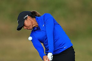 Cheyenne Woods during the first round of the 2014 Ricoh Women's British Open at Royal Birkdale Golf Club in Southport, England.