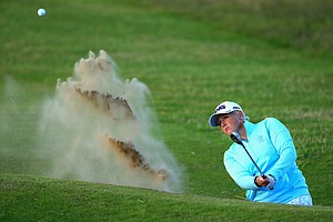 Holly Clyburn during the first round of the 2014 Ricoh Women's British Open at Royal Birkdale Golf Club in Southport, England.