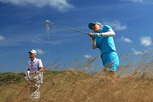 Lexi Thompson during the first round of the 2014 Ricoh Women's British Open at Royal Birkdale Golf Club in Southport, England.